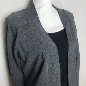 Long Sleeve Gray Cardigan Women's Sz Large